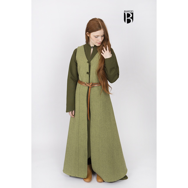 Sleeveless Coat Maiva Linden Green 1