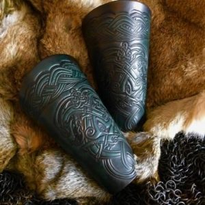The Dragons LARP Leather Vambraces