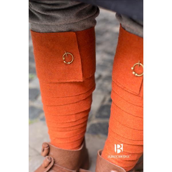 Wool Puttee Aki Orange 1