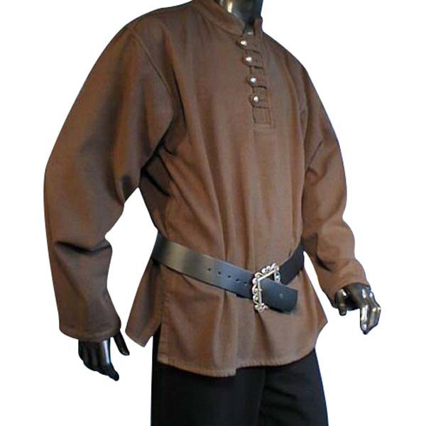 Buttoned Pirate Shirt Brown