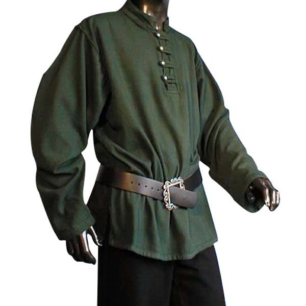 Buttoned Pirate Shirt Green