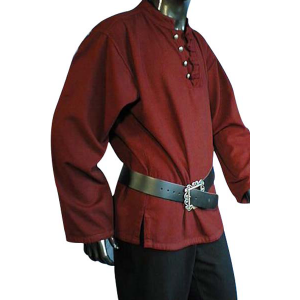 Buttoned Pirate Shirt  – Ideal For LARP, SCA and Costume