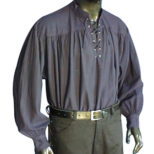 Laced Pirate Shirt Blue