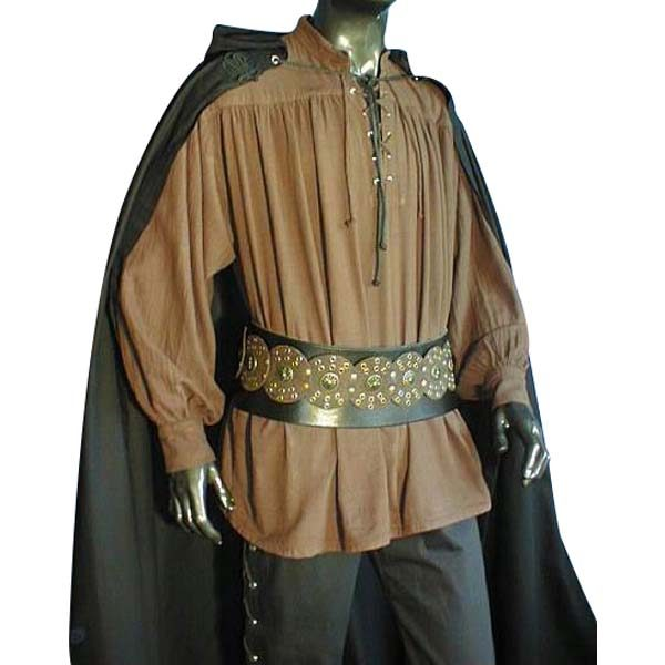 Laced Pirate Shirt Brown