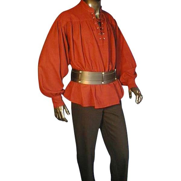 Laced Pirate Shirt Red