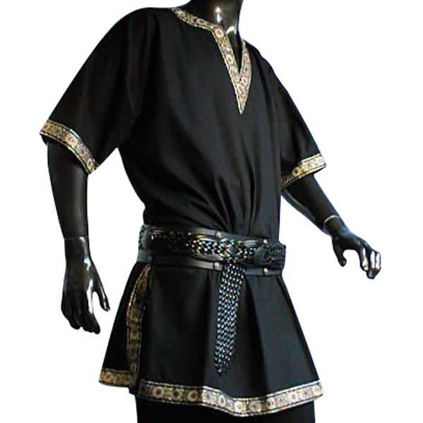 Linen Look Short Sleeved Tunic Black