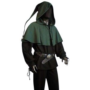 Medieval Long Tailed Hood – Ideal For LARP, SCA and Costume