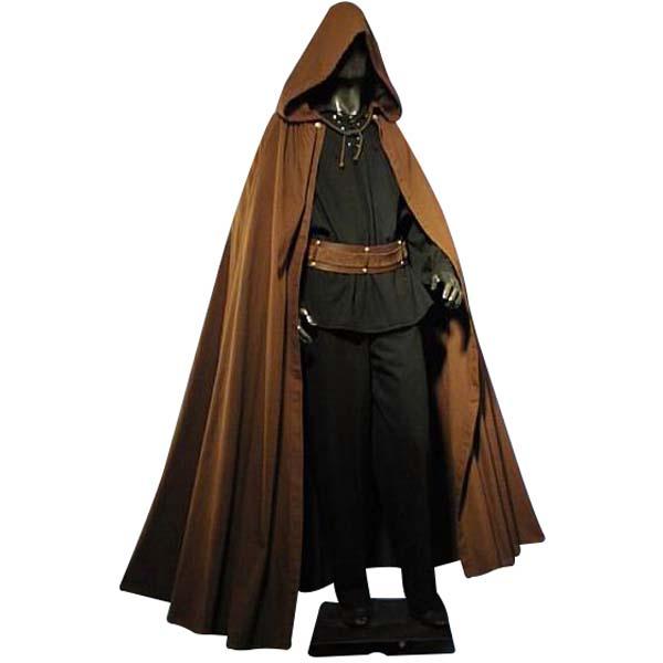 Medieval Cloak Dark Brown
