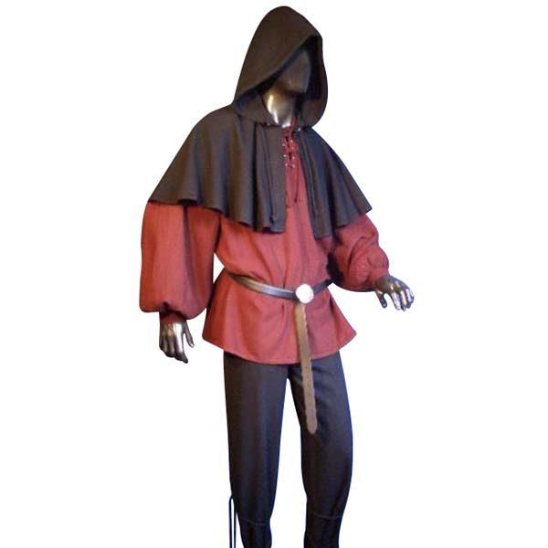 Medieval Hood Black
