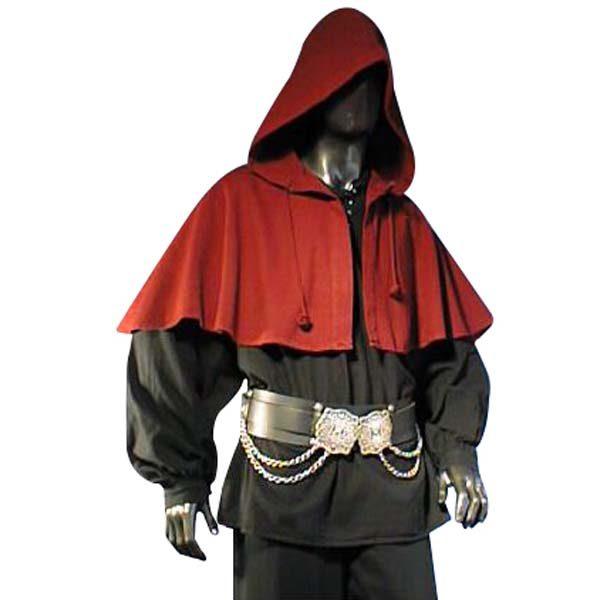 Medieval Hood Red
