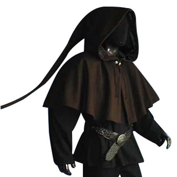 Medieval Lined Hood Brown