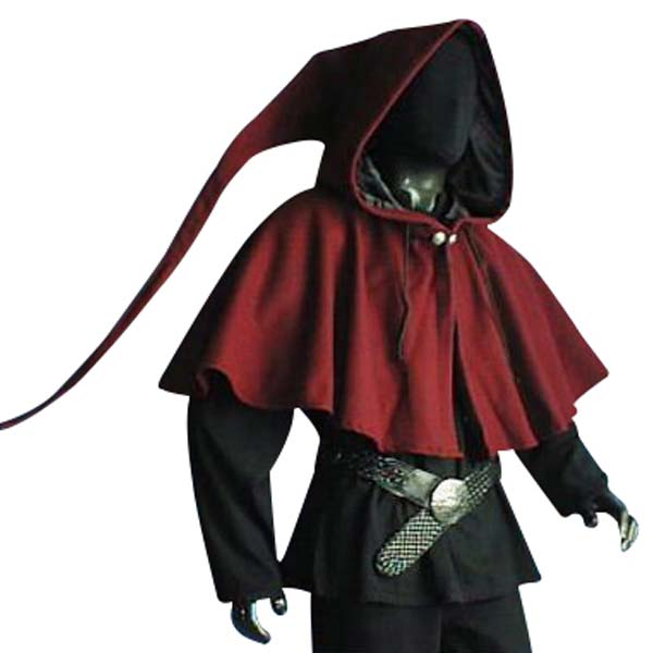 Medieval Lined Hood Red