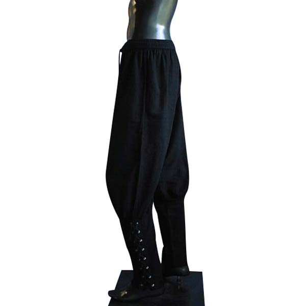 Medieval Viking Trousers Black
