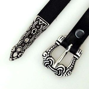 Viking Belt 1.5cm with end Black Detail