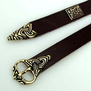 Viking LARP Leather Belt with Medieval Belt Buckle and Fittings