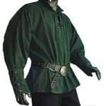 Medieval Shirt with stand up collar GREEN