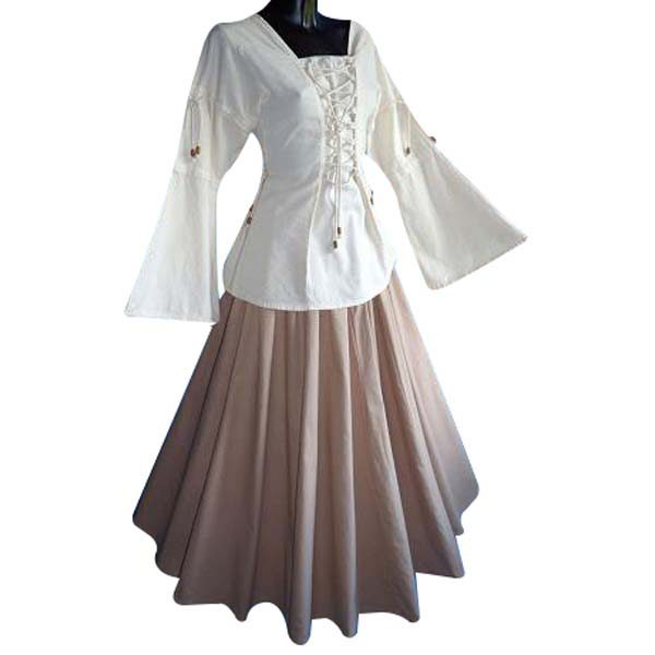 Medieval Blouse linen look NATURAL