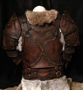 The Shield Maiden Clan Chief BUILT Leather Armour Full Set 2