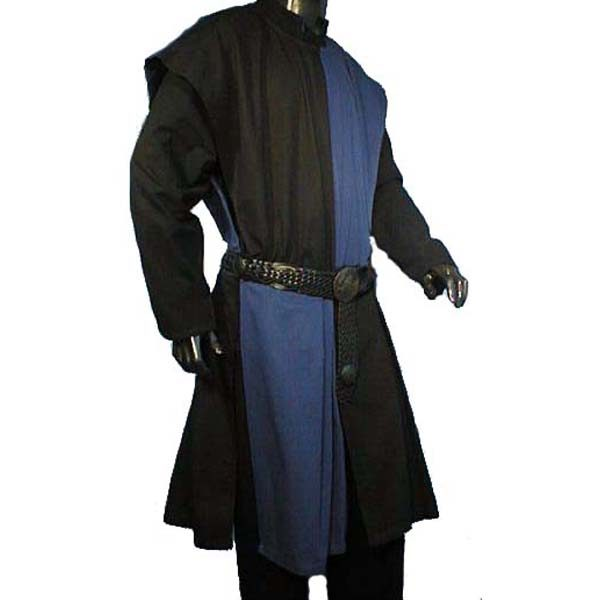 Checkerboard Pattern Surcoat BLACK AND BLUE