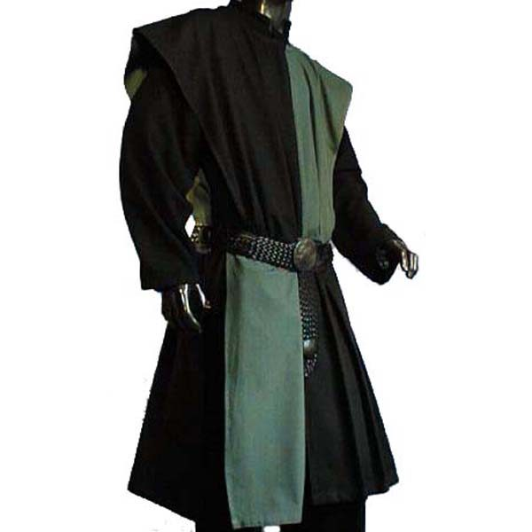 Checkerboard Pattern Surcoat BLACK AND GREEN
