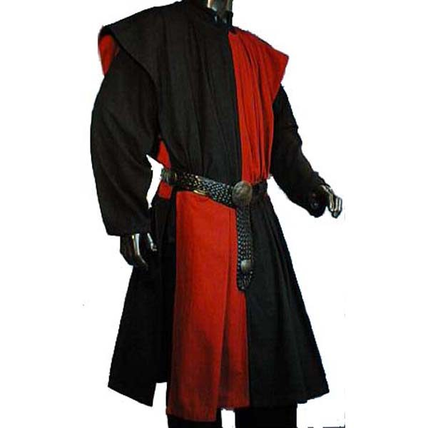 heckerboard Pattern Surcoat BLACK AND RED