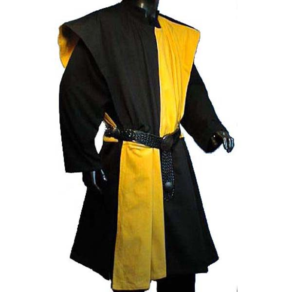 Checkerboard Pattern Surcoat BLACK AND YELLOW