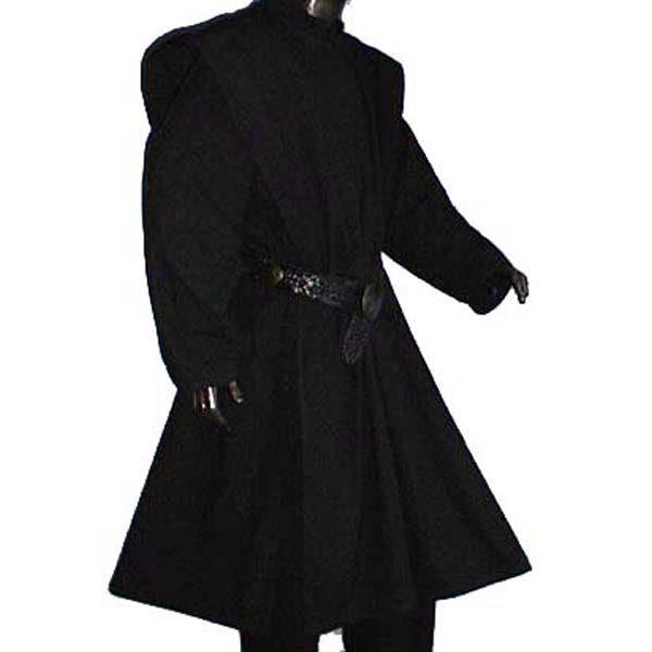Linen Look Plain Surcoats BLACK