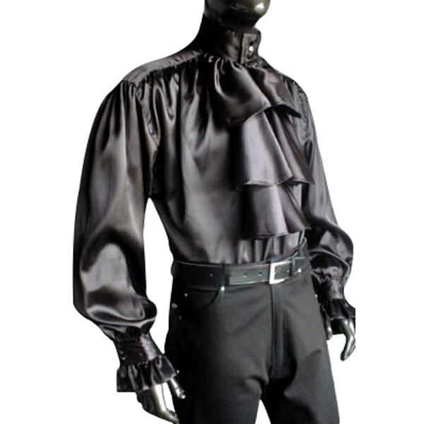 Satin Pastors Shirt BLACK