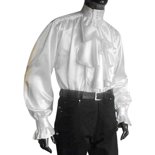 Satin Pastors Shirt WHITE