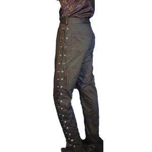Side Laced Trousers BLACK