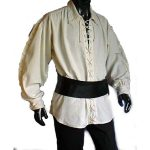 Laced Up Renaissance Shirt NATURAL