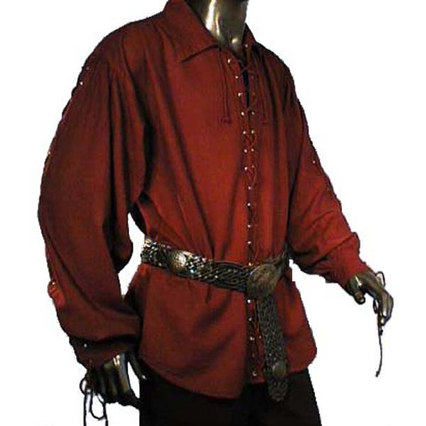 Laced Up Renaissance Shirt RED