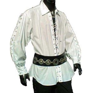 Laced Up Shirt Large Eyelets – Ideal For LARP, SCA and Costume