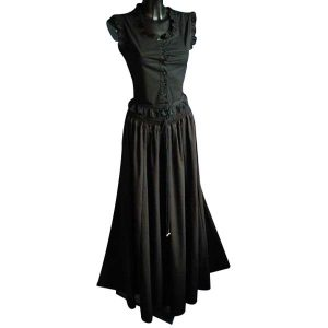 Medieval Style Linen Look Long Skirt – Ideal For LARP, SCA and Costume
