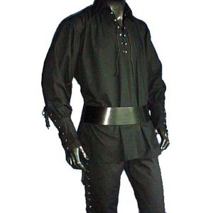 Black Pirates Shirt  – Ideal For LARP, SCA and Costume