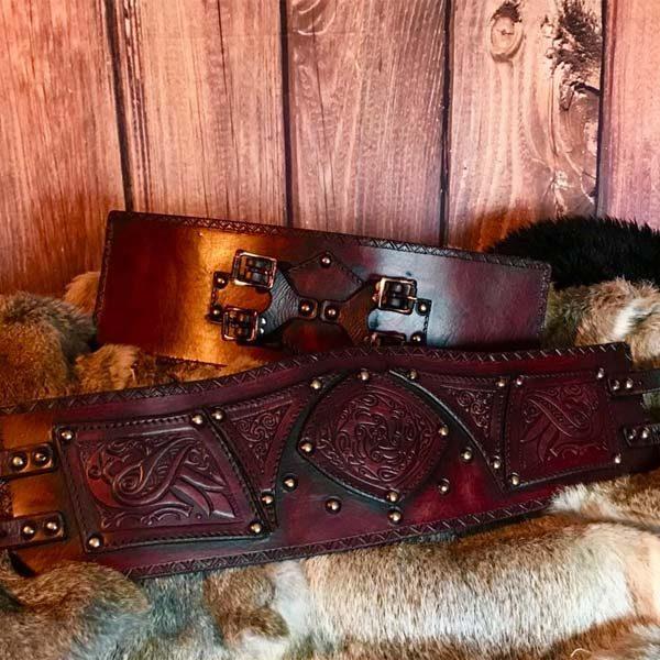 Clan Chief Belt Ox Blood Front