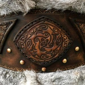 Clan Chief Body Belt and Shoulders Leather Armour