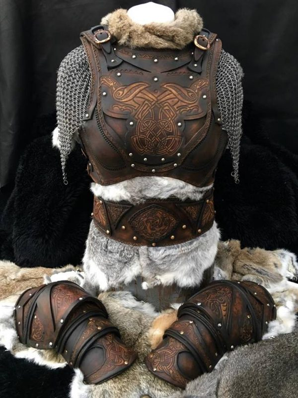 The Shield Maiden Clan Chief BUILT Leather Armour Full Set