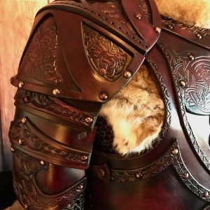 Clan Chief Leather Shoulders