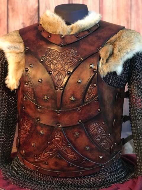 Bjorn Leather Body Armour Alternative Front