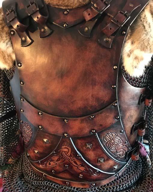 jorn Leather Body Armour Back