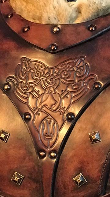 Bjorn Leather Body Armour Detail 2