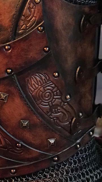 Bjorn Leather Body Armour Detail 3
