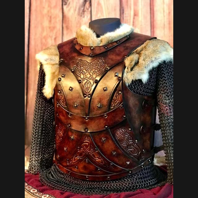The Bjorn LARP Leather Body Armour