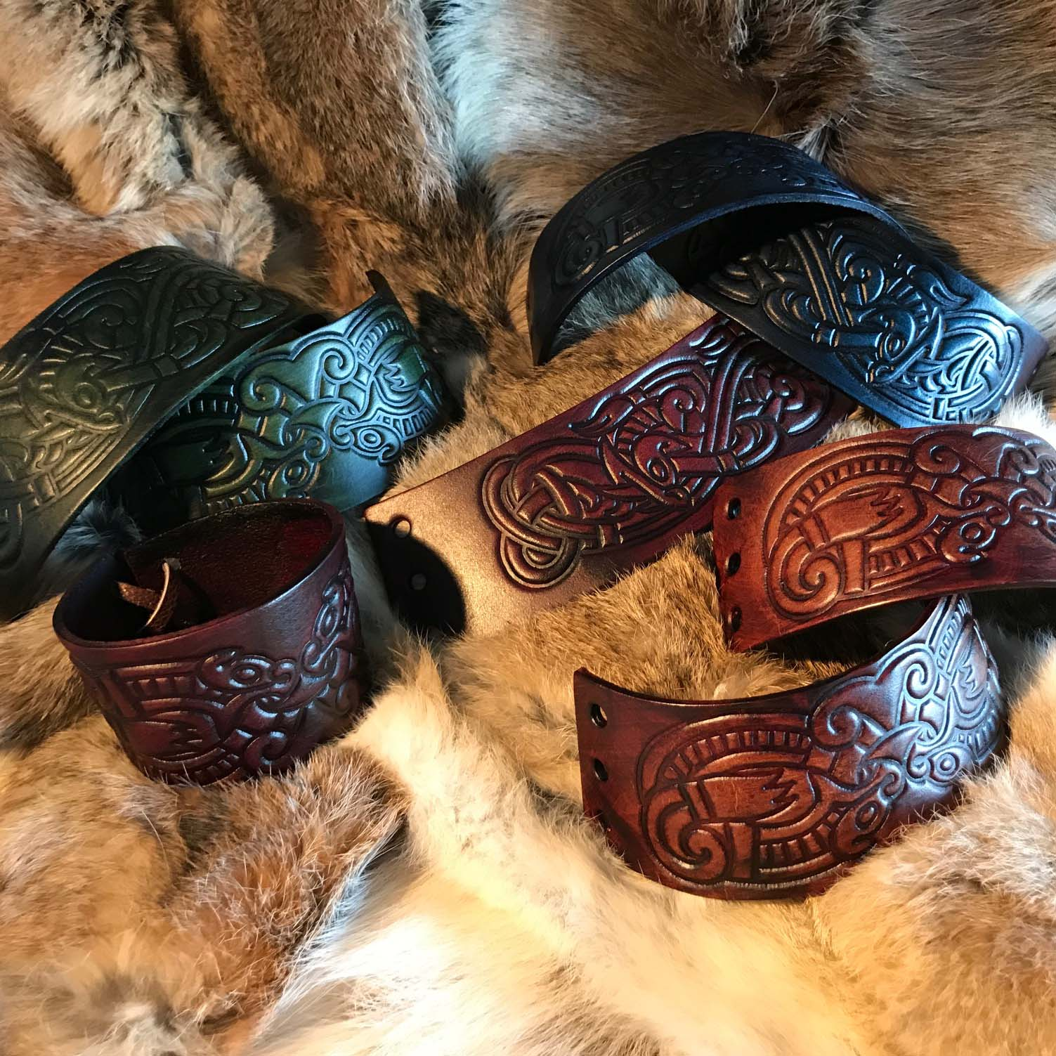 Viking Leather Cuffs 1