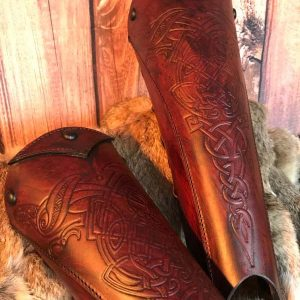Clan Chief Deluxe Leather Greaves