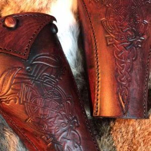 Clan Chief SCA Deluxe Leather Vambraces