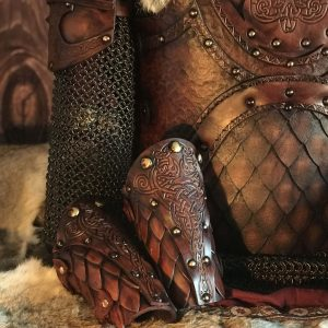 The Sigrun Deluxe SCA Leather Vambraces