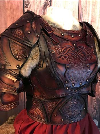 Clan Chief Battle Ready LARP Leather Armours