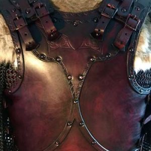 Male Clan Chief Leather Armour Body, Belt and Shoulders